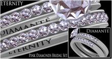 :Diamante: Eternity Pink Diamonds Bridal Set
