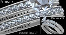 :Diamante: Eternity Diamonds Bridal Set