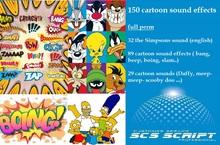*SCS SCRIPT - 150 cartoon sounds (32 the simpsons sound,89 cartoon sound effects, 29 cartoon sounds)