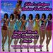 Iffyta Mesh Women's Tpol's Mini Sundress Stripes Galore