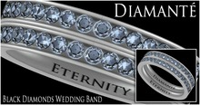 :Diamante: Eternity Black Diamonds Wedding Band