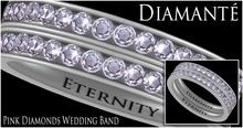:Diamante: Eternity Pink Diamonds Wedding Band