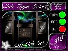 Club Tip jar Set 8 >> Tip jar Set Club Beach & Western Style <<