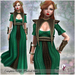 LUAS MARGAERY GREEN mesh Medieval Gown