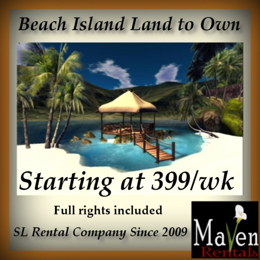 1024sqm-8192sqm Waterfront Island Land to Own - From 399/wk
