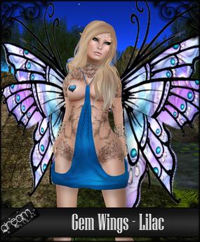 . Dream . Gem Wings - Lilac