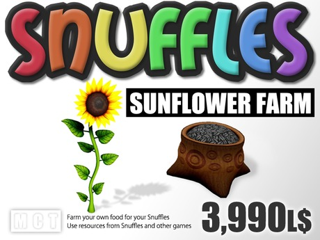 Snuffles Sunflower Farm - Farm Your Own Food - Sell Food To Earn Linden