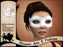 Delicate Domino Mask (White)