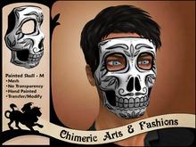 Painted Skull Mask (Mens, Black & White)