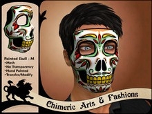 Painted Skull Mask (Mens, Colourful)