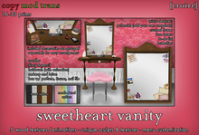 [croire] Sweetheart Bedroom Vanity (sculpted with stool, makeup, polaroids, brush, animations, color change and more)