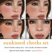 [croire] Sunkissed Cheeks Set (blush and freckles makeup tattoos)