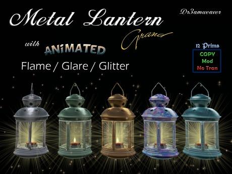 Dr3amweaver Animated Metal Lantern Grand