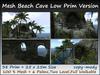 Mesh Beach Cave Low Prim Version 38 Prim=25x25m Size copy-mody