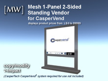 [MW] Mesh 1-Panel 2-Sided Price Vendor for CasperVend