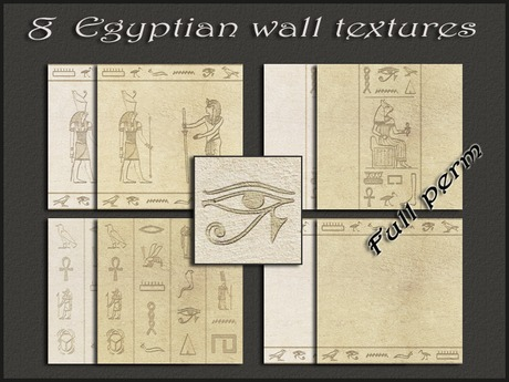 Pack 8 egyptian wall textures