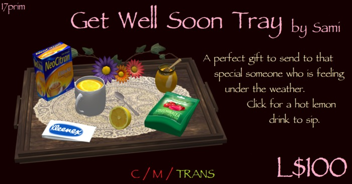 Get Well Soon Lemon Drink Tray by Sami