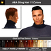 A&A Sting Hair 11 Colors Variety Pack. Short men's hairstyle with matching tattoo layer hairbase.