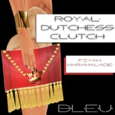 - B L E U - Royal Dutchess Clutch v2 (Fiyah Marmalade)