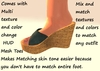 Wedge sandals Mesh with Multi texture and color change HUD