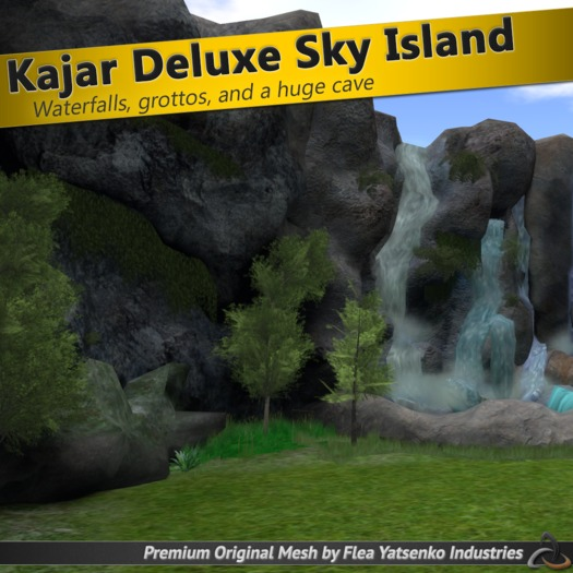 [FYI] Kajar Mesh Floating Sky Island w/ Grotto, Cave, Waterfall