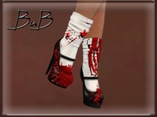 ::BnB:: Miss Mary Jane shoes: BLOODY MARY [RIGGED MESH] in 3 sizes and unrigged mesh