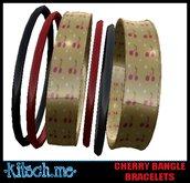 kitsch me - Cherry Bangle Bracelets (rockabilly dollarbie)
