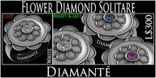 :Diamante: Flower Diamond Solitare