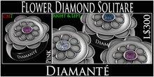 :Diamante: Flower Diamond Solitare - Pink