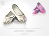 [A] Oriental Slippers - Unrigged Mesh- White and Pink