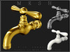 T-3D Creations [ Faucet - Silver / Gold ] MESH - Full Perm -