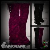 {DarkWare} Zombie Boots Pyscho Pink/Goth Black