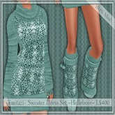 50% Off~Fantazi~ Mesh Sweater Dress Set ~Hellebore~