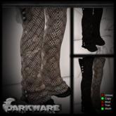 {DarkWare} Zombie Boots Static White/Goth Black