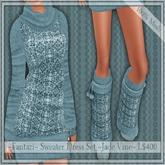 50% Off ~Fantazi~ Mesh Sweater Dress Set ~Jade Vine~