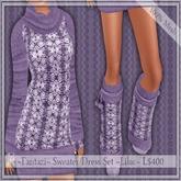 Demo ~Fantazi~ Mesh Sweater Dress Set ~Lilac~