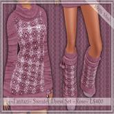 50% Off ~Fantazi~ Mesh Sweater Dress Set ~Rose~