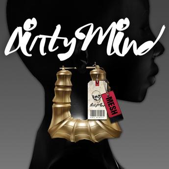 ::DirtyMind:: Doorknocker Earrings - Gold