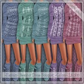 Winter Special~Fantazi~ Mesh Sweater Dress Bouquet-5 for the price of 3!