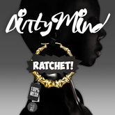 ::DirtyMind:: White Ratchet! Bamboo Earrings