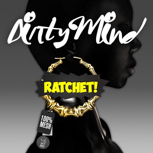 ::DirtyMind:: Yellow Ratchet! Bamboo Earrings