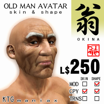 "KTG ""OLD MAN"" AVATAR SET"