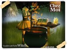 chaudron et sorcière de table ♥ NEW Chez Moi