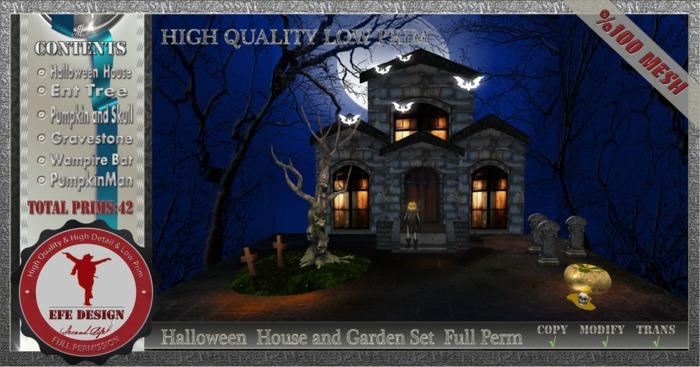 Halloween  House and Garden Set  Full Perm