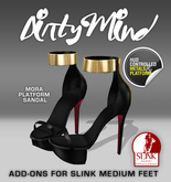 ::DirtyMind::Mora Platform Sandals - Night
