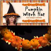 Pumpkin Witch Hat - Pumpkins and Candy Corn Hat