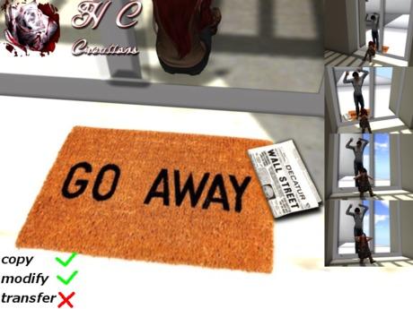 """HCC """"Go away"""" Doormat BOX"""