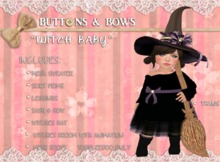 :BB: Witch Baby Toddleedoo BABY size only