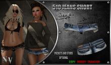 [NV] 510 Jeans Short -Blue-