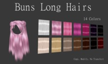 Buns Long Hairs (14 Colors)